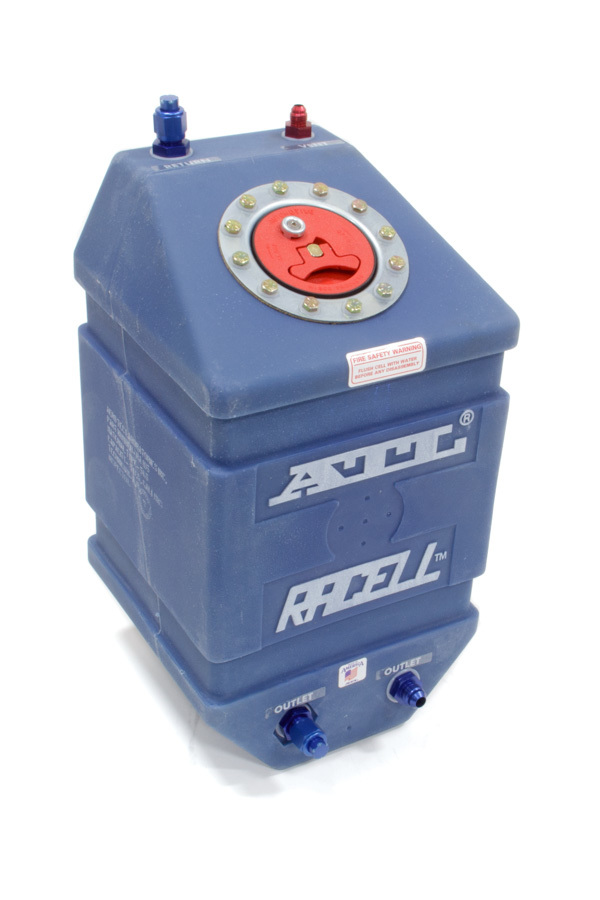 ATL Fuel Cells RA105 Fuel Cell, Racell, 5 gal, 10 x 10 x 17 in Tall, 8 AN Outlet / Return, 6 AN Vent, Foam, Plastic, Blue, Each