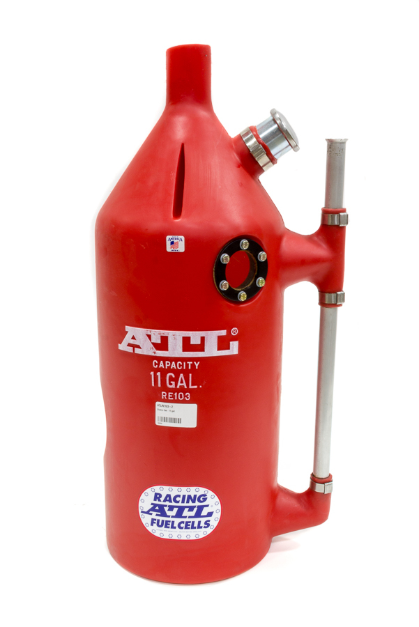 ATL Fuel Cells RE103-2 Utility Jug, Super Trick Dump Can, 11 gal, 12 in Diameter, 32 in Tall, Shoulder Indent, Vented, Round, Plastic, Red, Each