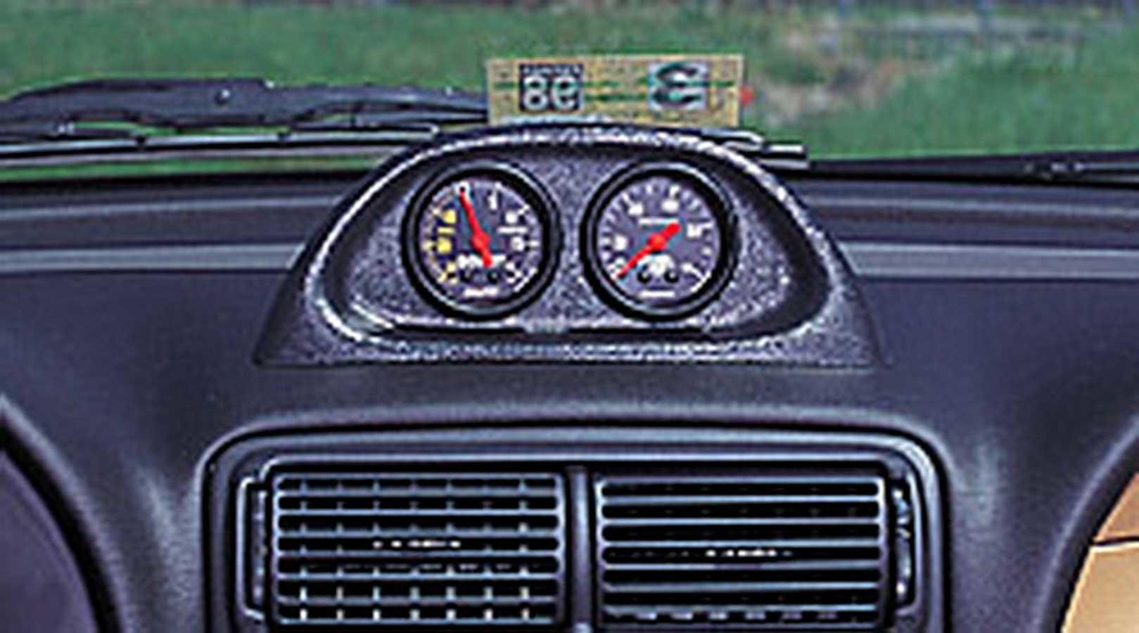 Auto Meter 10001 Gauge Pod, Gauge Works, Two 2-1/16 in Diameter Gauges, Dash, Plastic, Black, Ford Mustang 1994-2004, Each