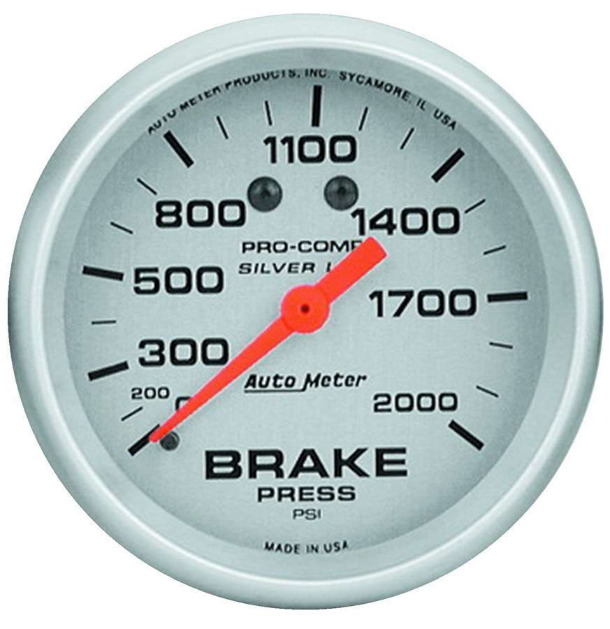2-5/8in Brake Pressure Gauge 0-2000 PSI