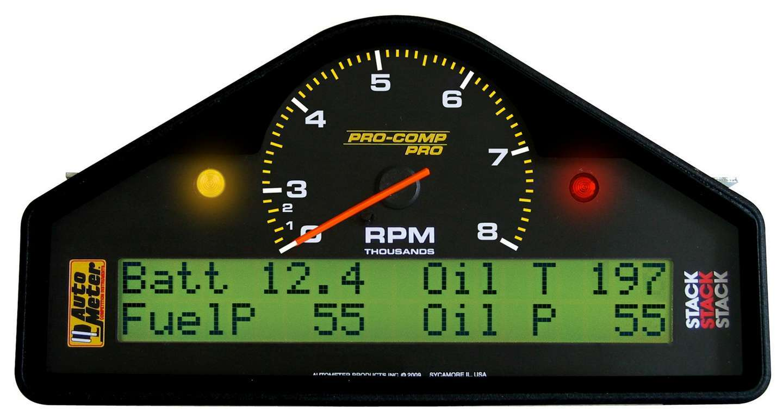 Auto Meter 6012 Gauge Kit, Pro-Comp, Pro Dash, Digital / Analog, Fuel Pressure / Oil Pressure / Oil Temperature / Speedometer / Tachometer / Voltmeter / Water Temperature, Black Face, Kit