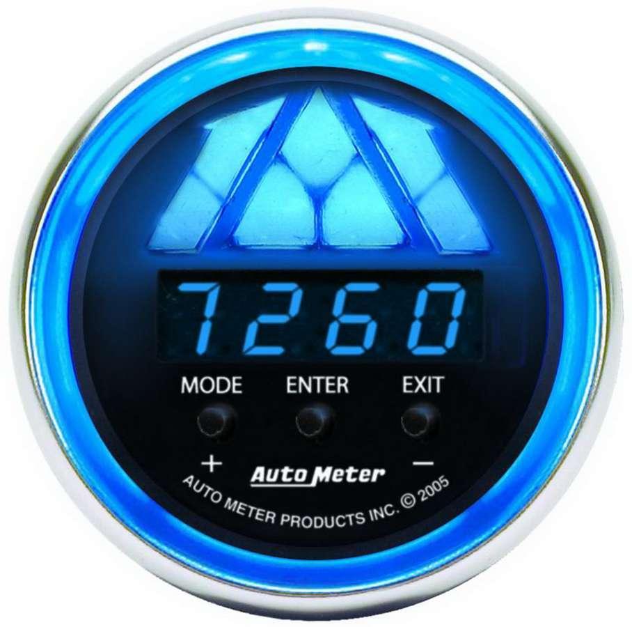 Auto Meter 6187 Shift Light, Cobalt, 0-16000 RPM, 4 Shift Point, Digital, 2-1/16 in Diameter, Multi-Color LED, Black Face, Each