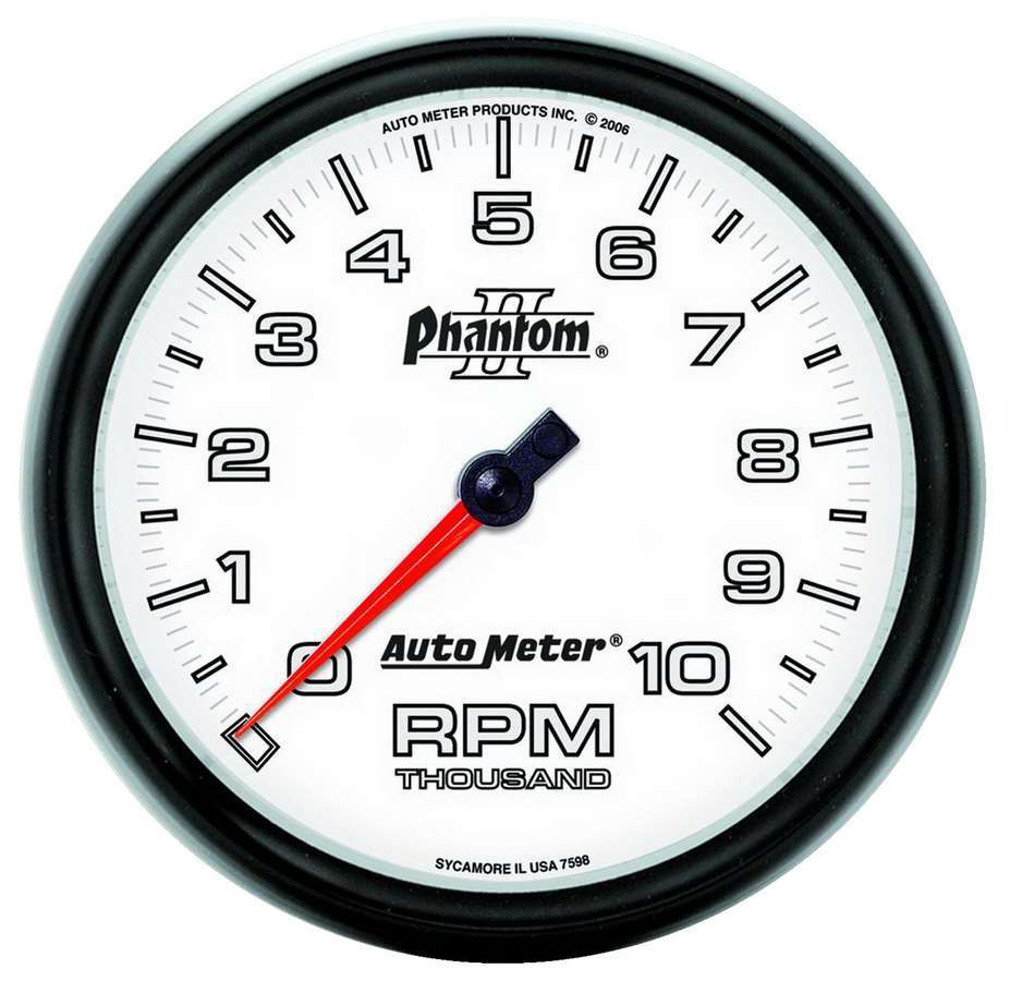 5in P2/S In-Dash Tach 10K RPM