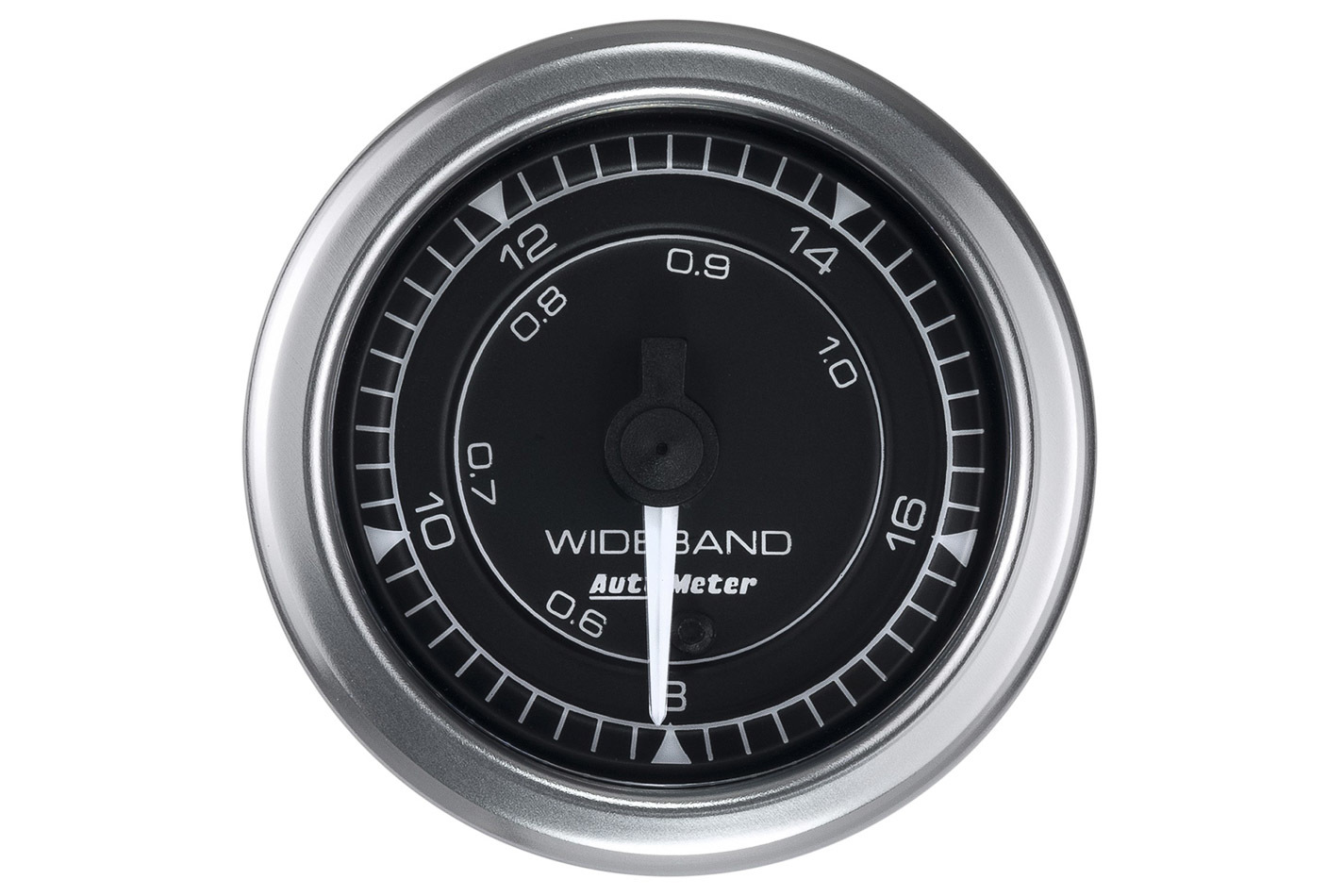 Auto Meter 8170 Air-Fuel Ratio Gauge, Chrono Series, Wideband, 8:1-18:1 AFR, Electric, Analog, Full Sweep, 2-1/16 in Diameter, Black Face, Each