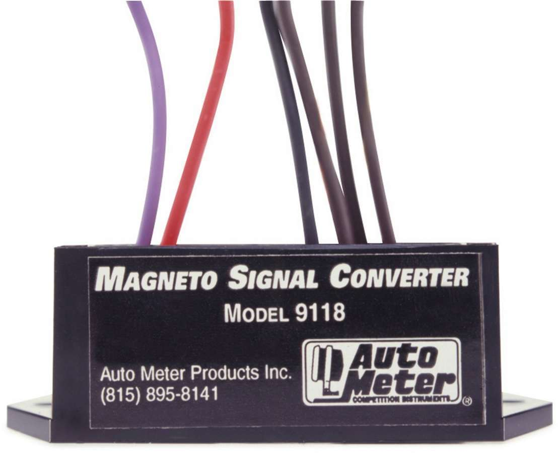 Auto Meter 9118 Tachometer Adapter, External Coil Magneto Ignitions, Each
