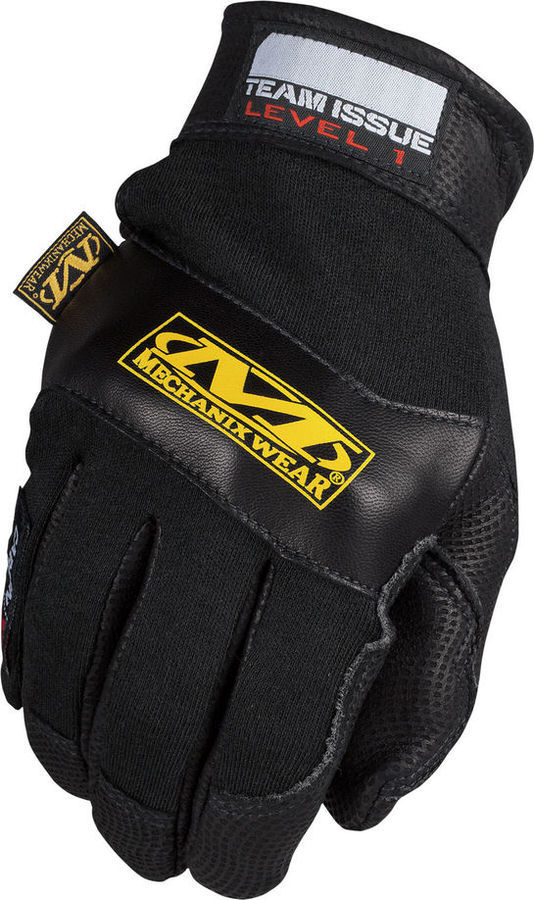 Mechanix Wear CXG-L1-010 Gloves, Shop, Level 1, Reinforced Fingertips and Palm, Hook and Loop, Carbon-X, Black, Large, Pair