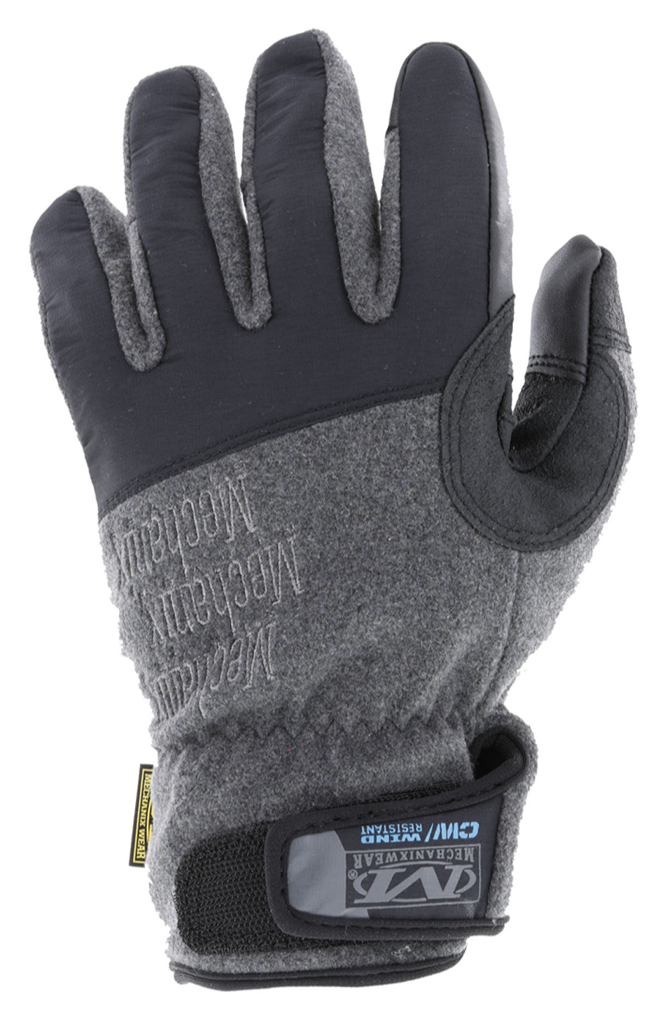 Mechanix Wear MCW-WR-008 Gloves, Shop, Wind Resistant, Reinforced Palm, Hook and Loop Closure, Insulated, Touch Screen Compatible, Black / Gray, Small, Pair