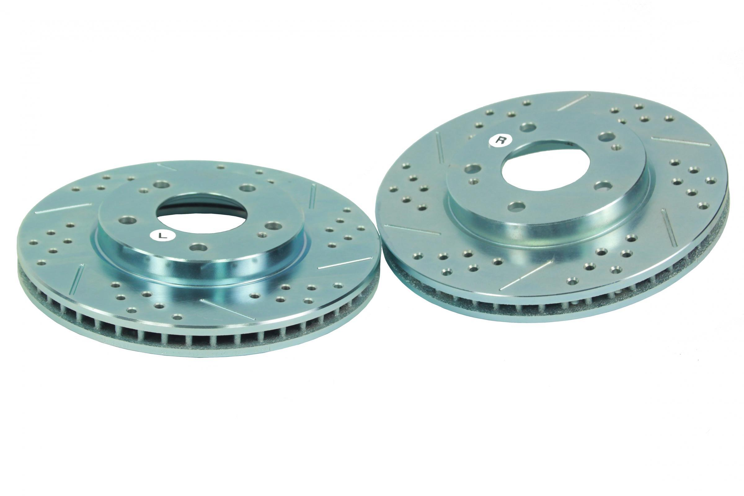 Performance Slotted And Drilled Rotors Pair