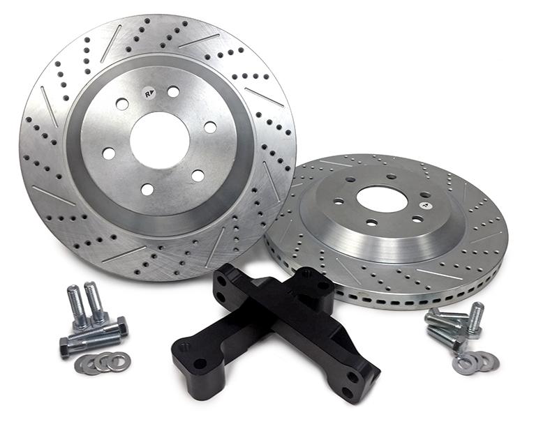 Baer Brakes 2301059 Brake Rotor, EradiSpeed 1, Front, Directional / Drilled / Slotted, 15 in OD, Brackets / Hardware, Iron, Zinc Plated, GM Fullsize Truck 2015-18, Pair