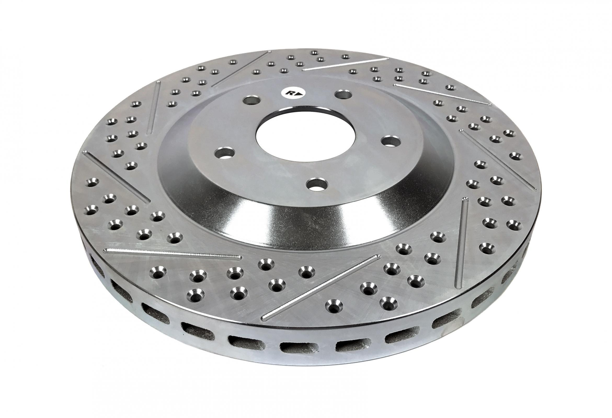 Baer Brakes 55043-020 Brake Rotor, Sport, Directional / Drilled / Slotted, 321 mm OD, 5 x 120 mm Wheel Bolt Pattern, Iron, Natural, Pair