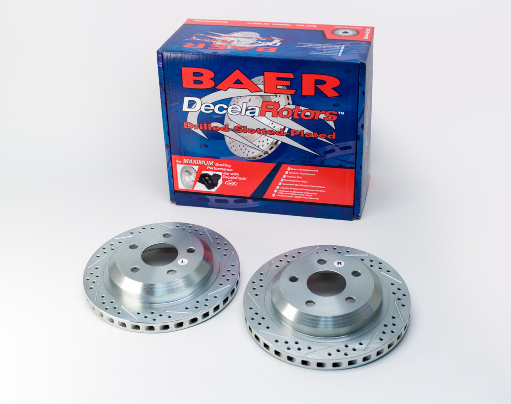 Baer Brakes 55050-020 Brake Rotor, Sport, Directional / Drilled / Slotted, 305 mm OD, 5 x 118 mm Wheel Bolt Pattern, Iron, Natural, Pair