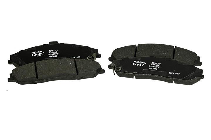 Baer Brakes D0731R Brake Pads, Street, Ceramic Compound, Medium Friction, Medium / High Temperature, Front, Chevy Corvette, Set of 4