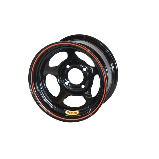 13x8 4x100mm 3in BS Black