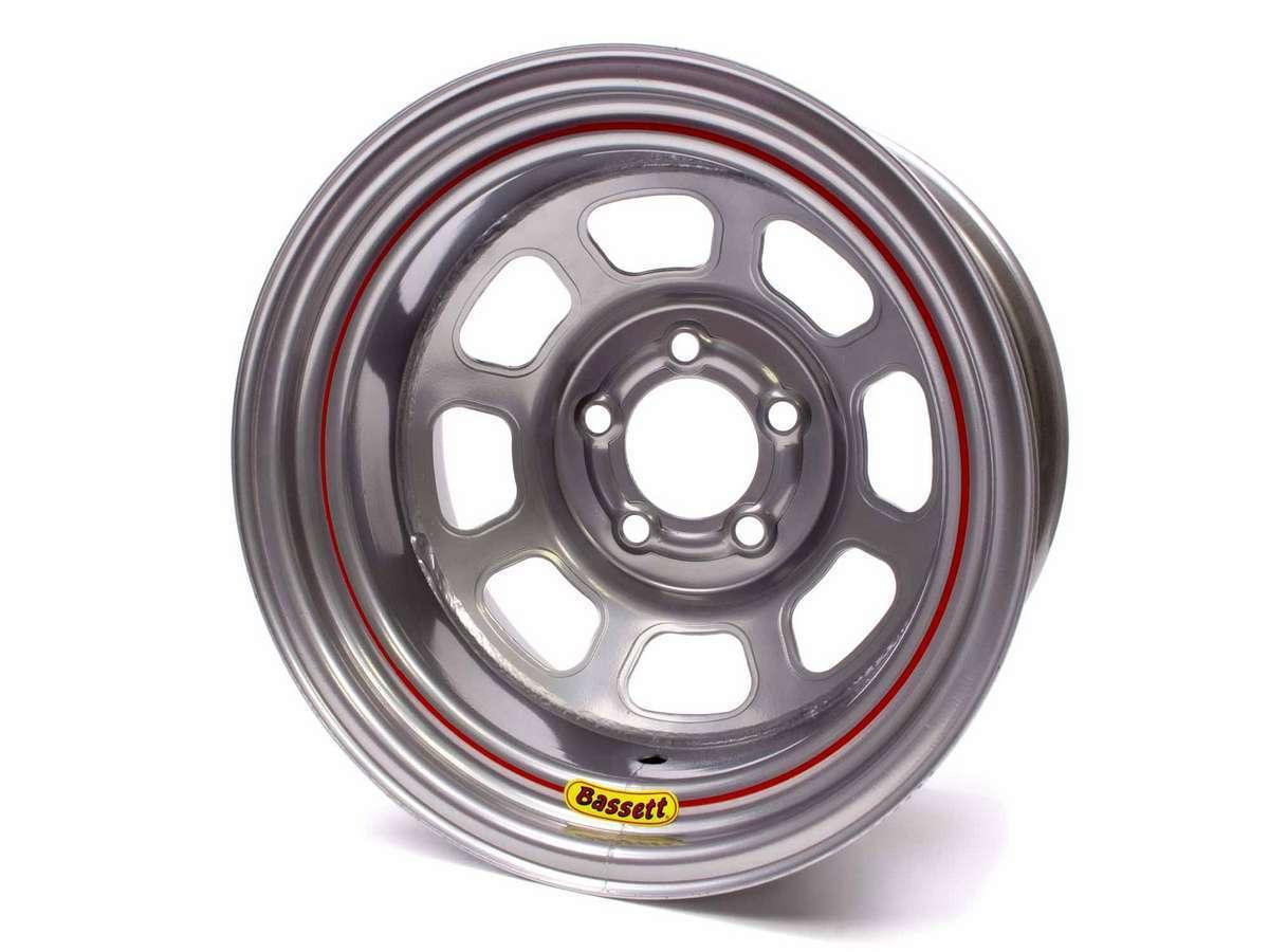 Wheel 14x7 D-Hole 5x 4.5in 3.75in BS Silver