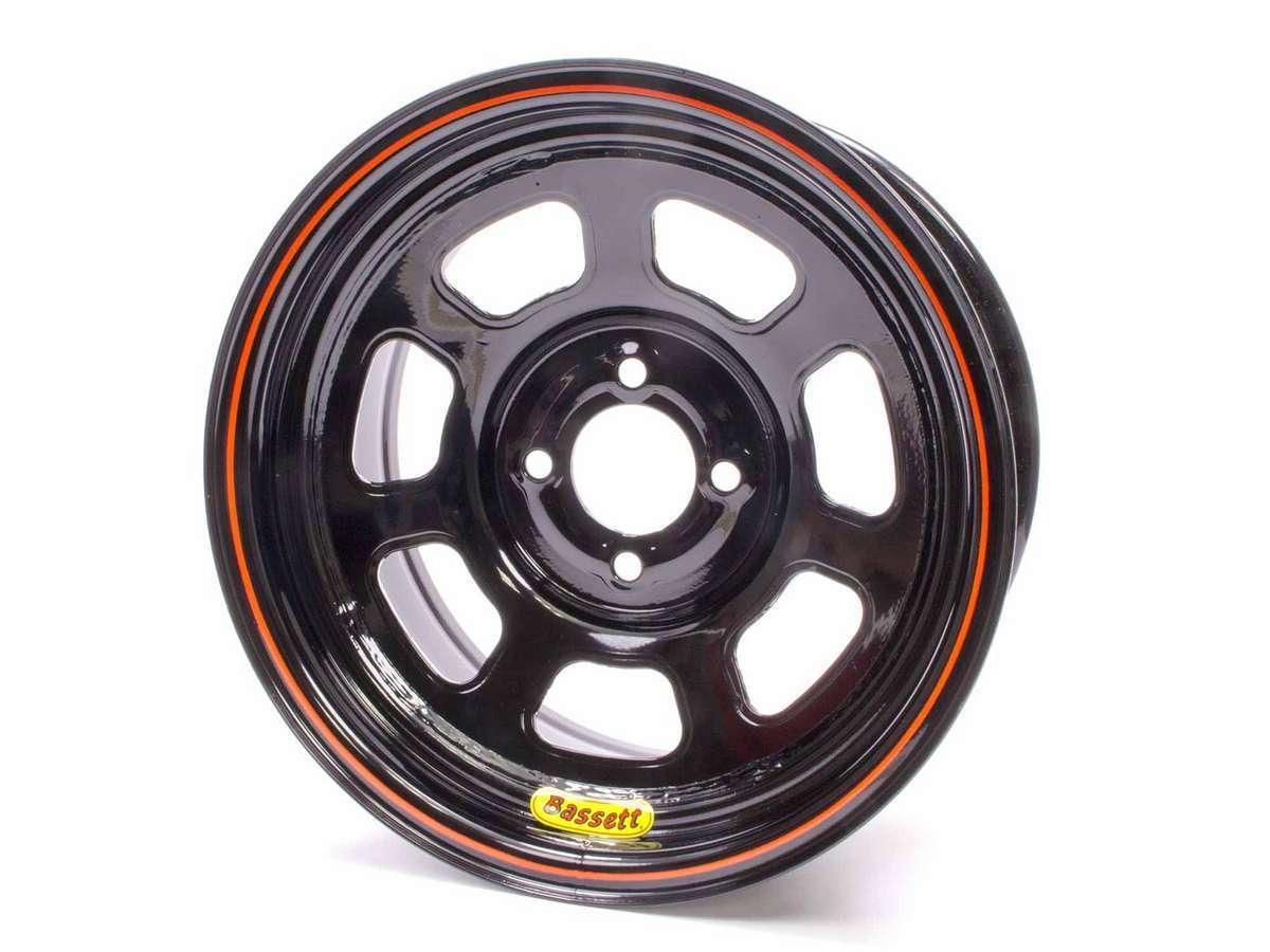 Wheel 14x7 D-Hole 4x100 4.0in BS Black