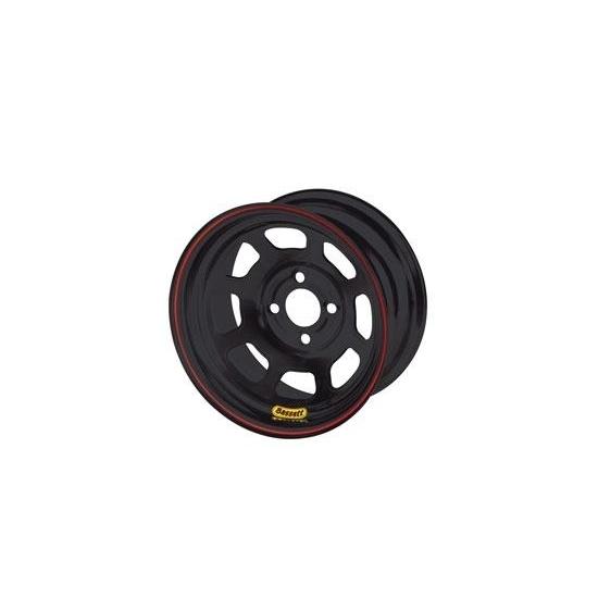 Bassett 47SP2 Wheel, 8 Spoke D-Hole Lightweight, 14 x 7 in, 2.000 in Backspace, 4 x 4.25 in Bolt Pattern, Steel, Black Powder Coat, Each