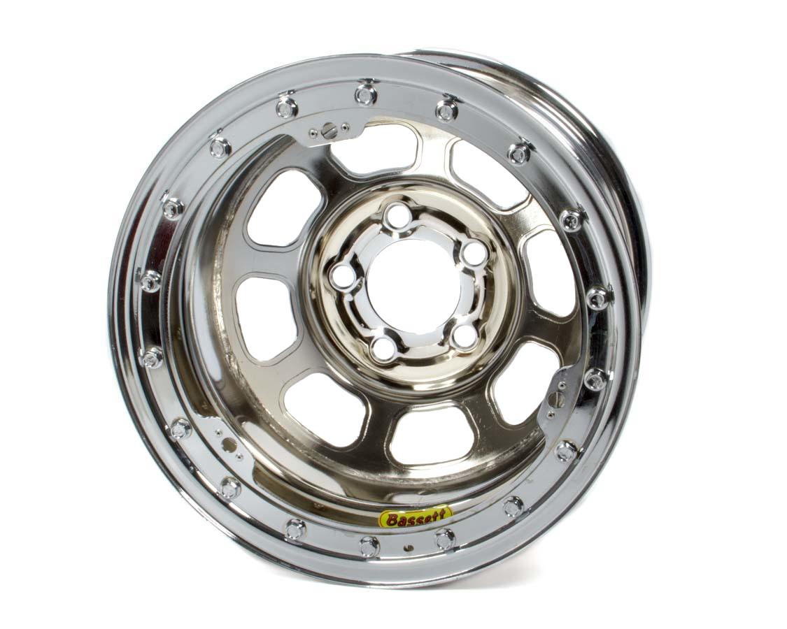 Bassett 15 x 8.75 B/L Chrome 3in D-Hole