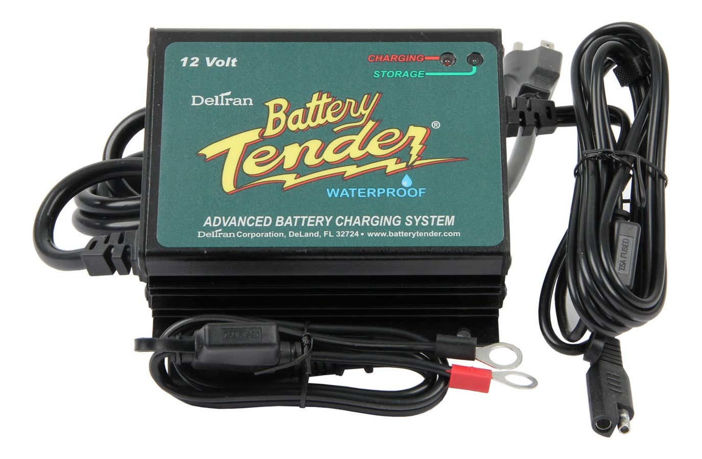 Battery Tender 022-0157-1 Battery Charger, Battery Tender Plus, Waterproof, 12V, 5 amp, 4 Step Charging Program, Quick Connect Harness, Vibration Resistant, Each