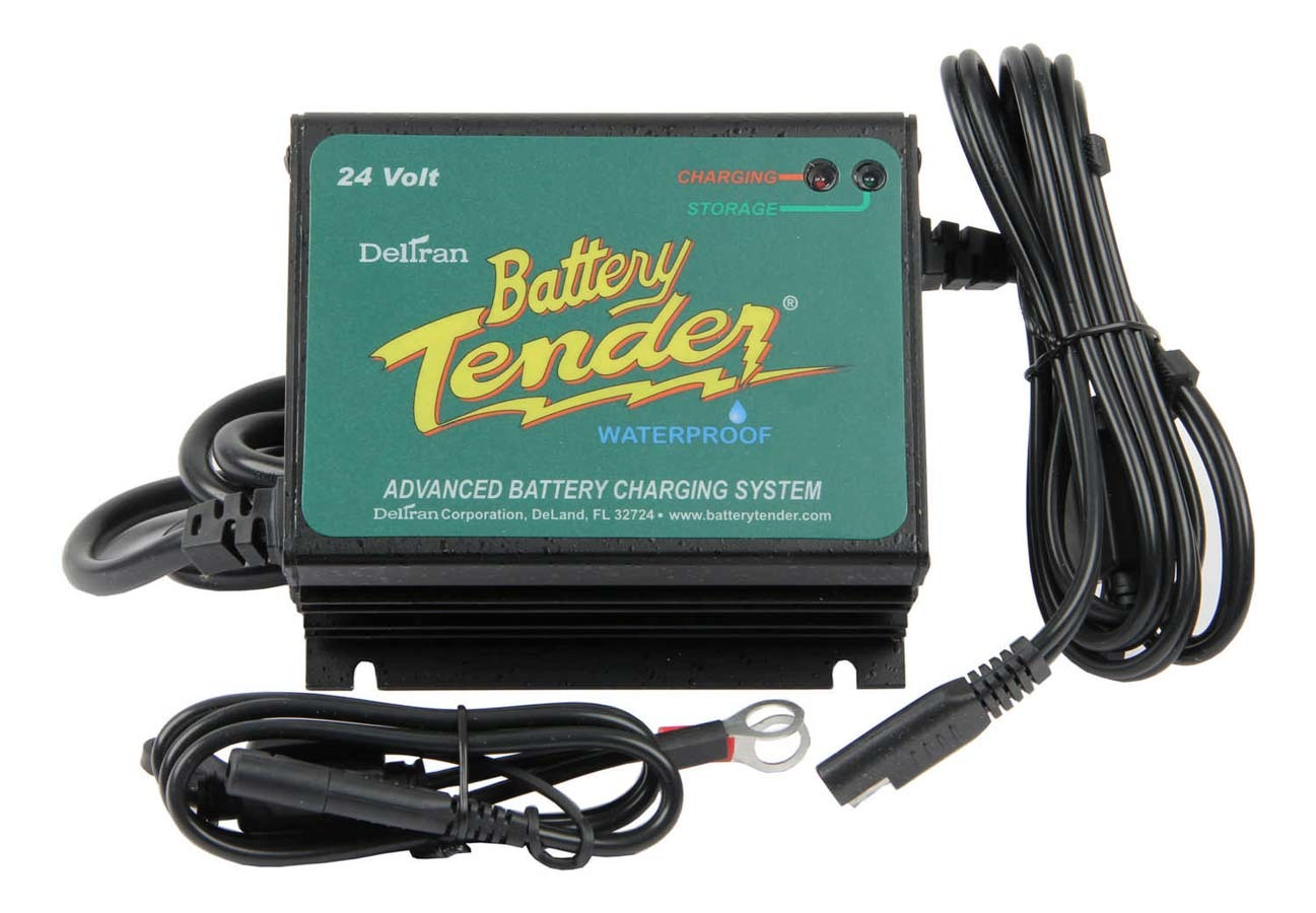 Battery Tender 022-0158-1 Battery Charger, Battery Tender Plus, Waterproof, 24V, 2.5 amp, 4 Step Charging Program, Quick Connect Harness, Vibration Resistant, Each