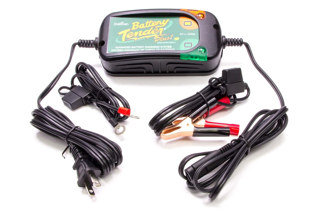 Battery Tender 022-0185G-DL-WH Battery Charger, Battery Tender Plus High Efficiency, 12V, 1.25 amp, 4 Step Charging Program, Quick Connect Harness, Each