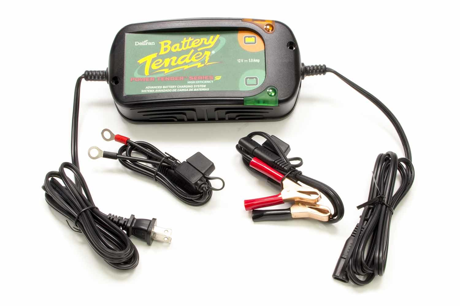 Battery Tender 022-0186G-DL-WH Battery Charger, Battery Tender Power Tender Plus High Efficiency, 12V, 5 amp, 4 Step Charging Program, Quick Connect Harness, Each