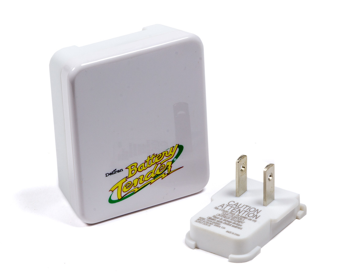 Battery Tender 022-0194-WH Battery Charger, Wall Outlet, 2.1 Amp, Plastic, White, USB Devices, Universal, Each