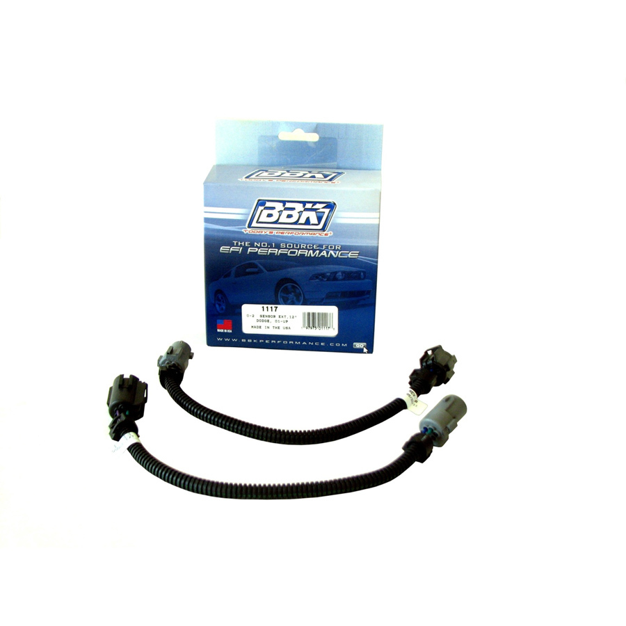 BBK Performance 1117 Oxygen Sensor Extension, Front, 12 in Long, Dodge, Pair