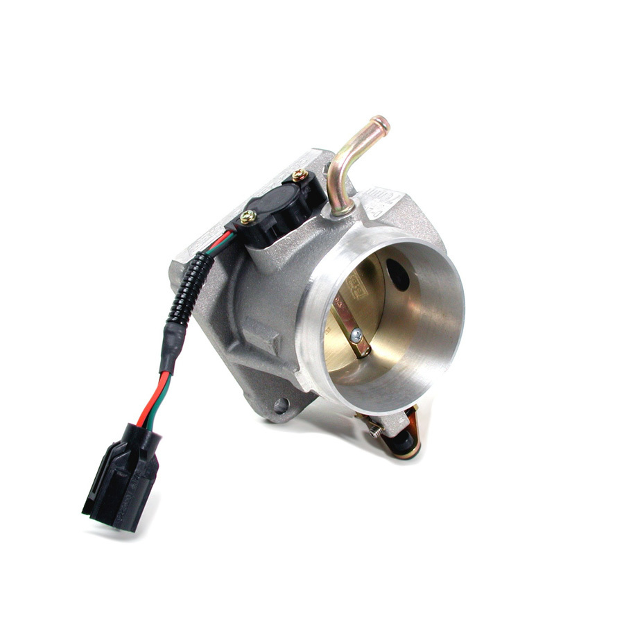 BBK Performance 1501 Throttle Body, Power Plus, Stock Flange, 70 mm Single Blade, Aluminum, Natural, Small Block Ford, Ford Mustang 1986-93, Each