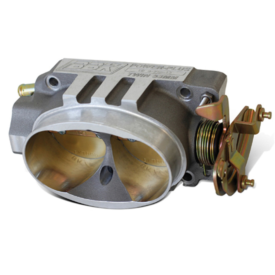 BBK Performance 1537 Throttle Body, Power Plus, Stock Flange, 52 mm Twin Blade, Aluminum, Natural, LT-1 / Tuned-Port, Small Block Chevy, Each