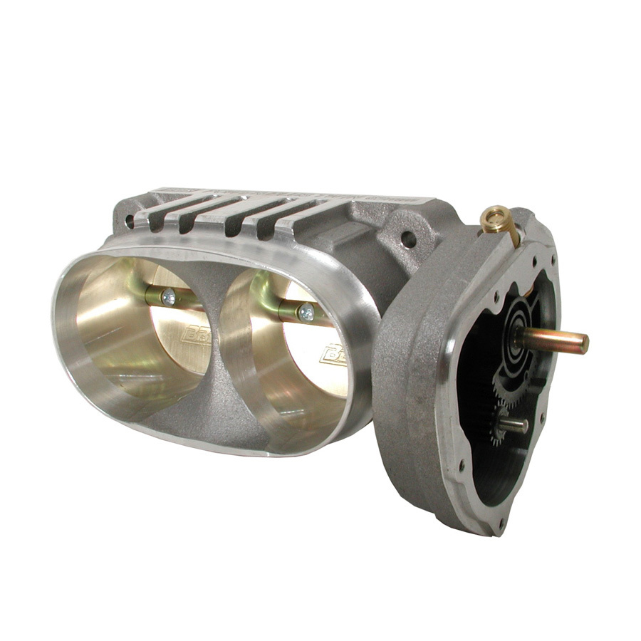 BBK Performance 1763 Throttle Body, Power Plus, Stock Flange, 62 mm Twin Blade, Aluminum, Natural, Ford Modular, Ford Mustang 2005-10, Each