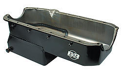 B&B Performance 91078 Engine Oil Pan, Drag Race, Rear Sump, 5.5 qt, Pickup / Hardware Included, Steel, Black, Small Block Chevy, Each