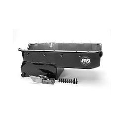 B&B Performance 91487 Engine Oil Pan, Drag Race, Rear Sump, 6 qt, Pickup / Hardware Included, Steel, Black, Big Block Chevy, Each