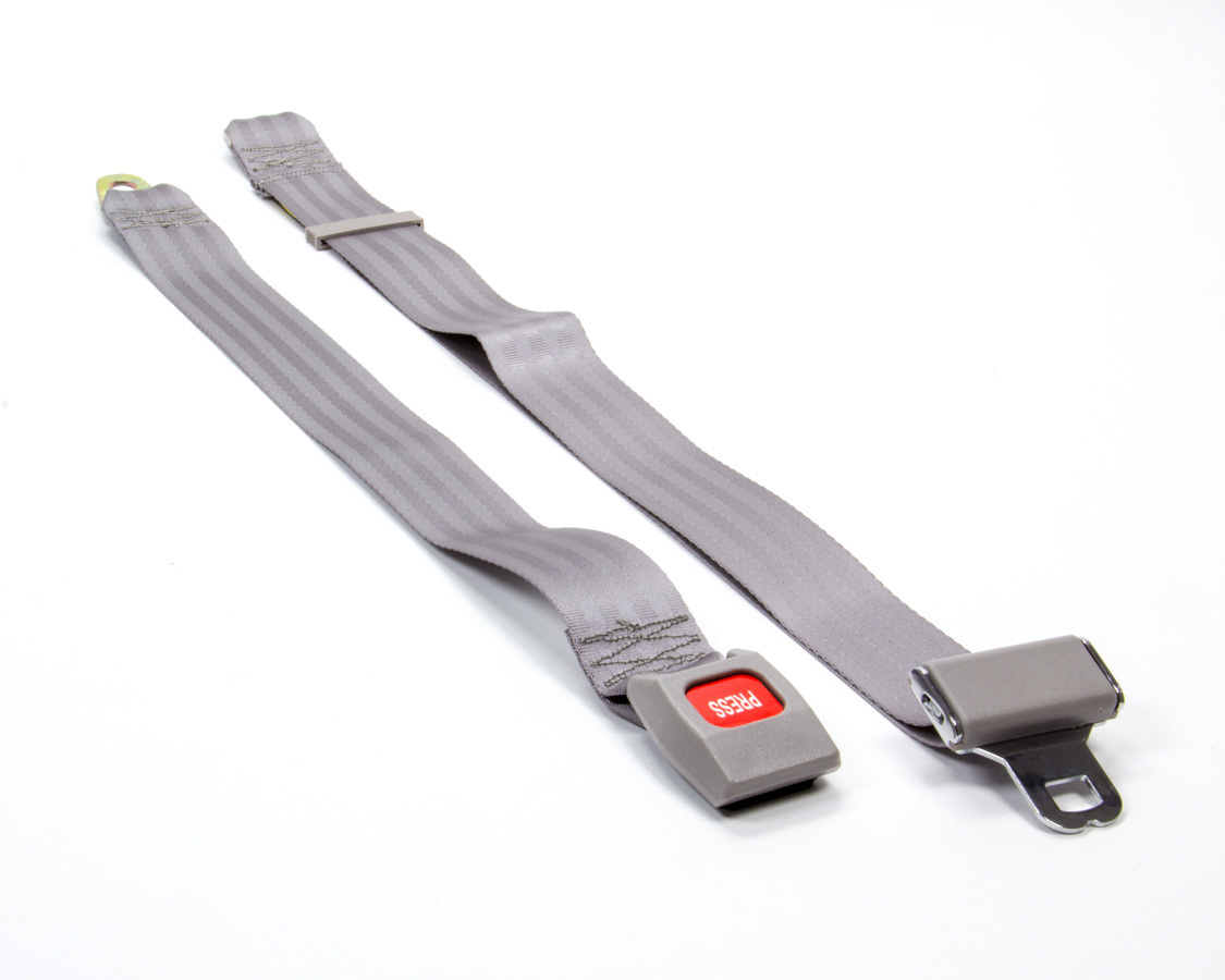 2 Pt Seat Belt Grey w/ Discontinued 1/20