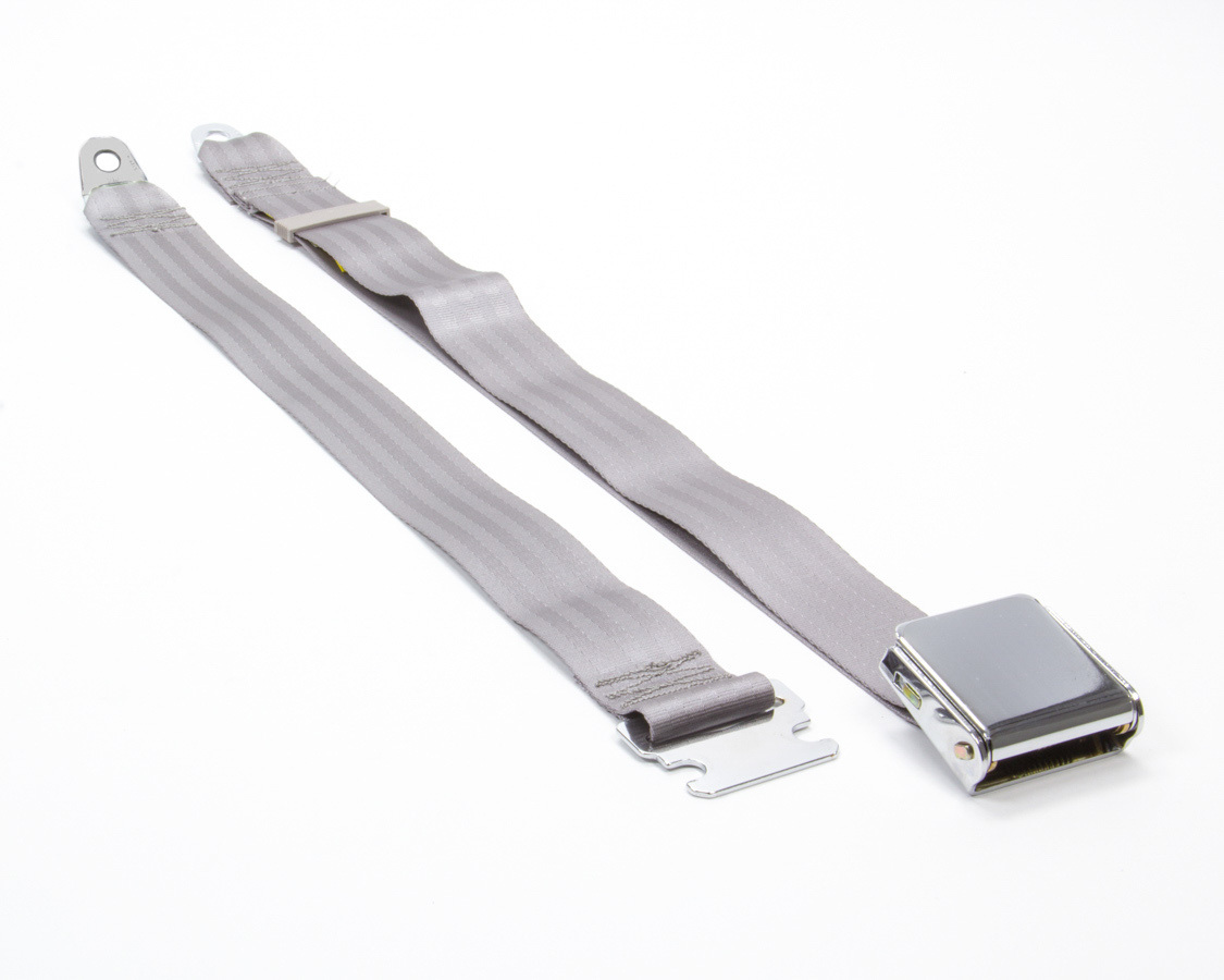 2 Pt Seat Belt Airplane Style Grey