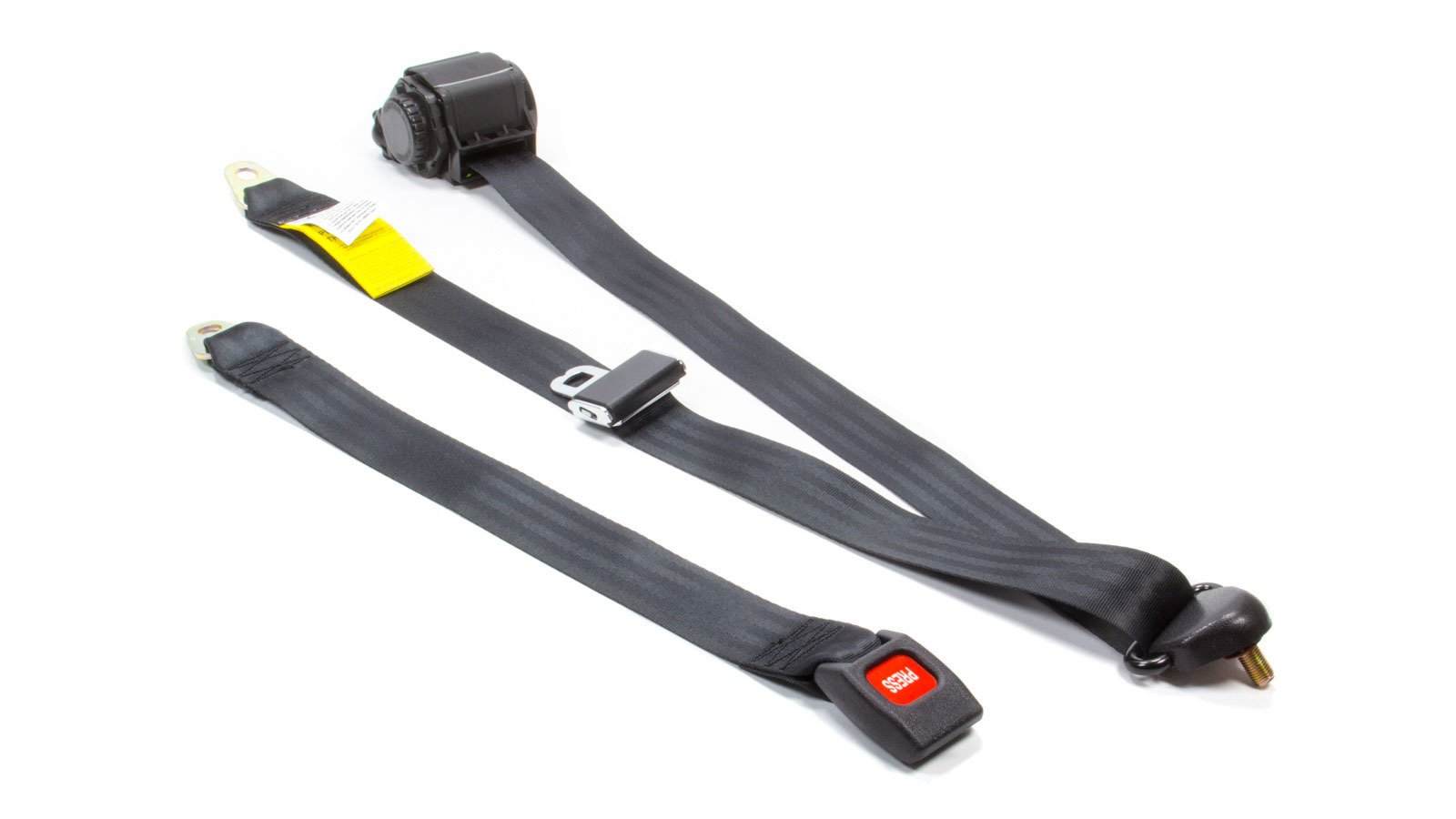 3 Pt Retractable Seat Belt Black Bench Seat