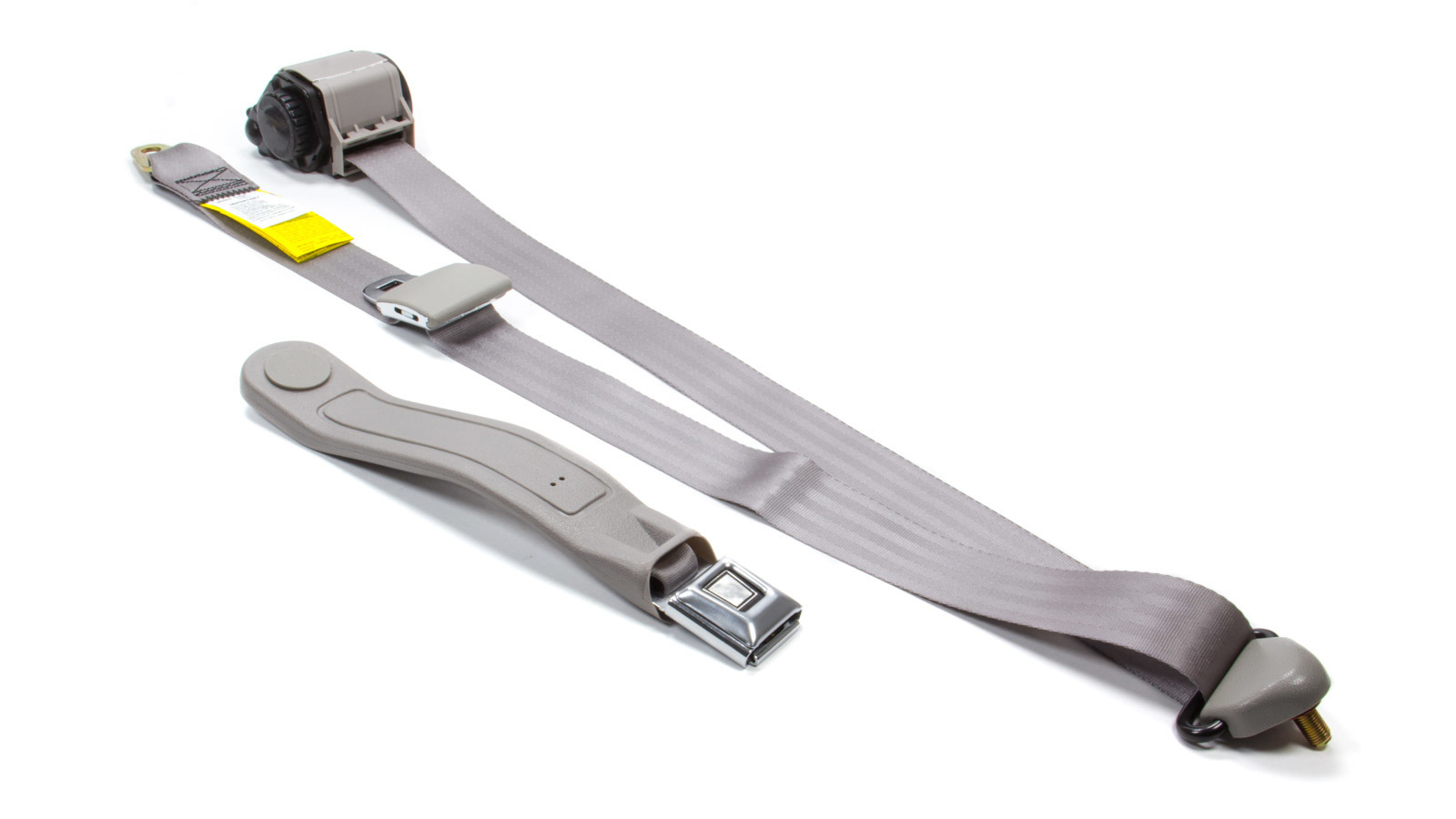 3 Pt Retractable Seat Belt Grey Bucket Seat