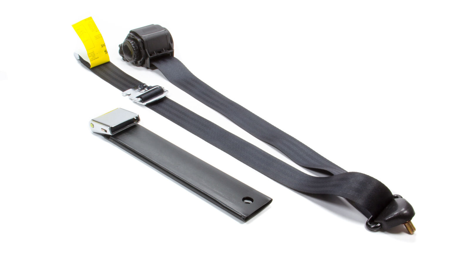 3 Pt Retractable Seat Belt Black Bucket Seat