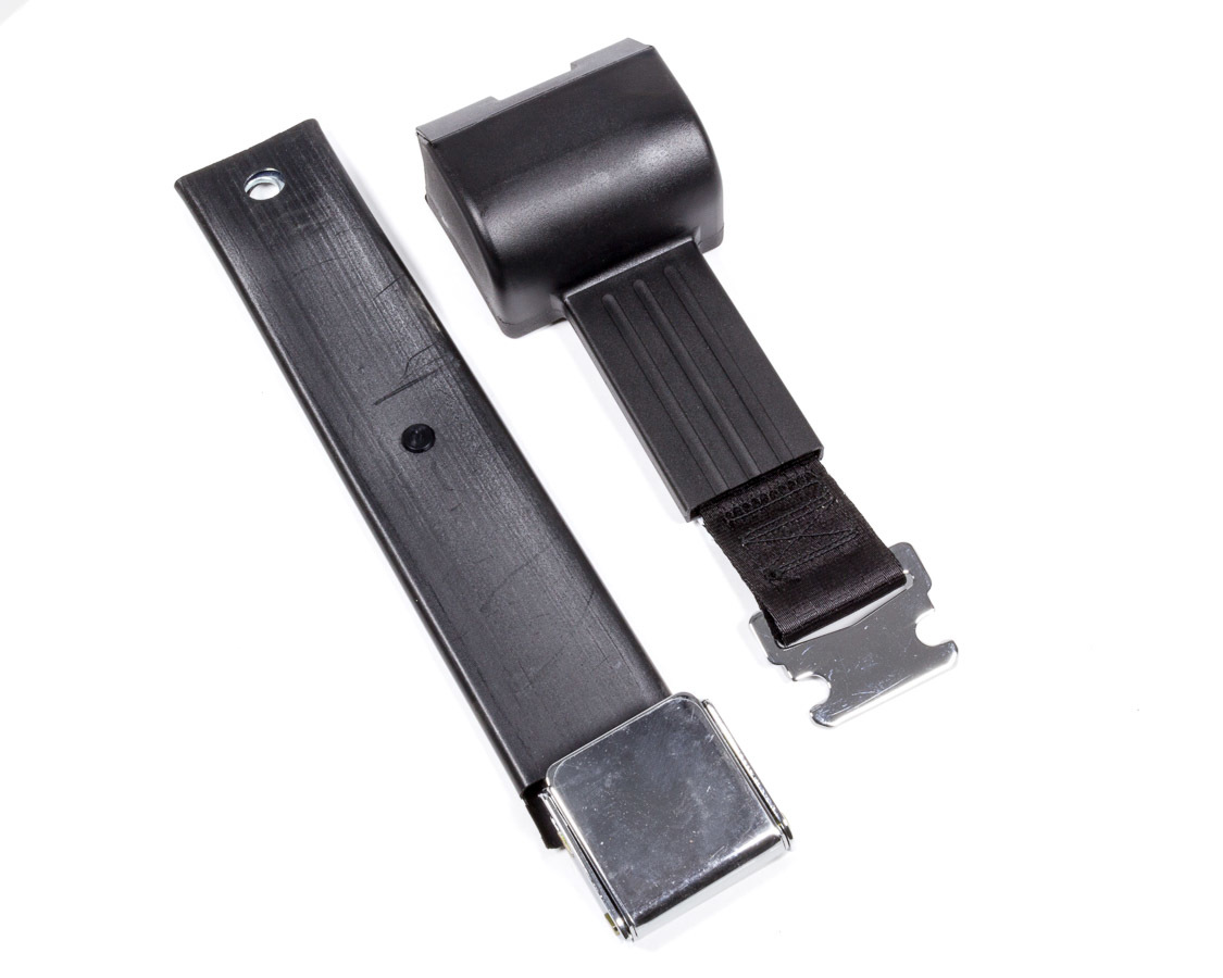 2 Pt retractable Seat Belt Airplane Style Blk