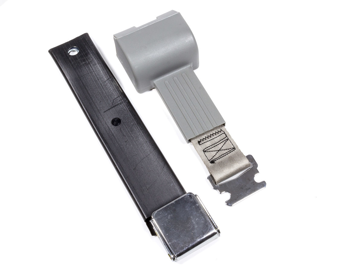 2 Pt retractable Seat Belt Airplane Style Gray