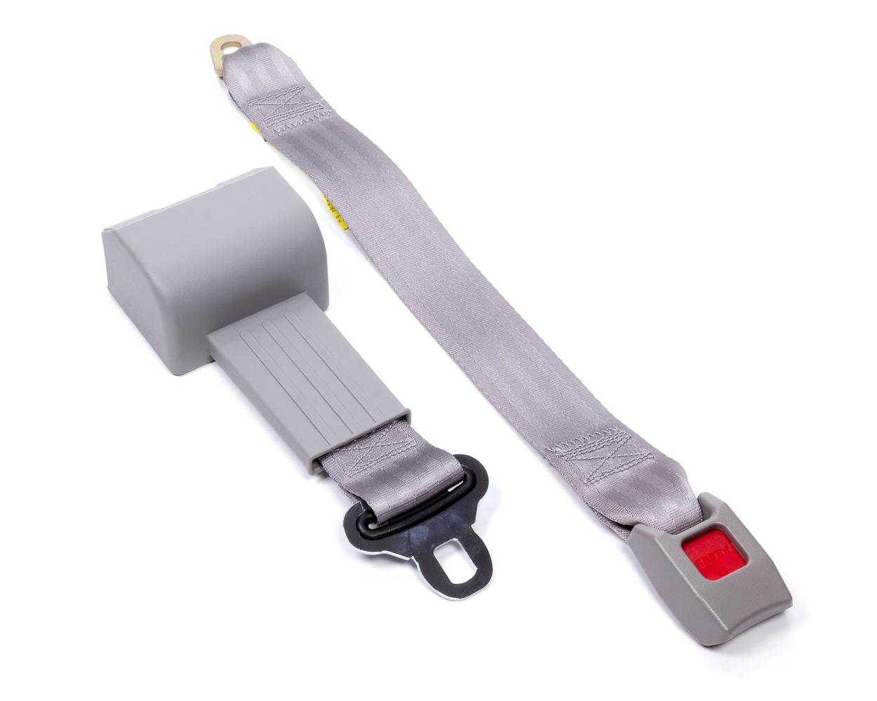 Beams Seatbelts 80695073-00-AA Seat Belt, Lap, Bench Seat Style, Retractable, Bolt-On, Floor Mount, Nylon, Gray, Each