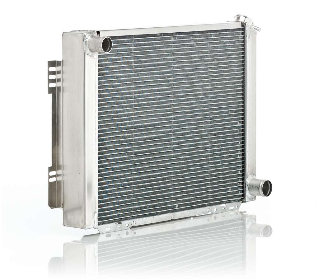BE-COOL Radiators 10009 Radiator, Aluminator, 26 in W x 19 in H x 3 in D, Driver Side Inlet, Passenger Side Outlet, Aluminum, Natural, GM A-Body / F-Body 1964-69, Each