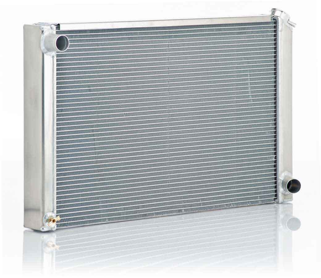 BE-COOL Radiators 10010 Radiator, Aluminator, 31-1/4 in W x 18-3/4 in H x 3 in D, Driver Side Inlet, Passenger Side Outlet, Aluminum, Natural, GM A-Body / F-Body 1968-79, Each