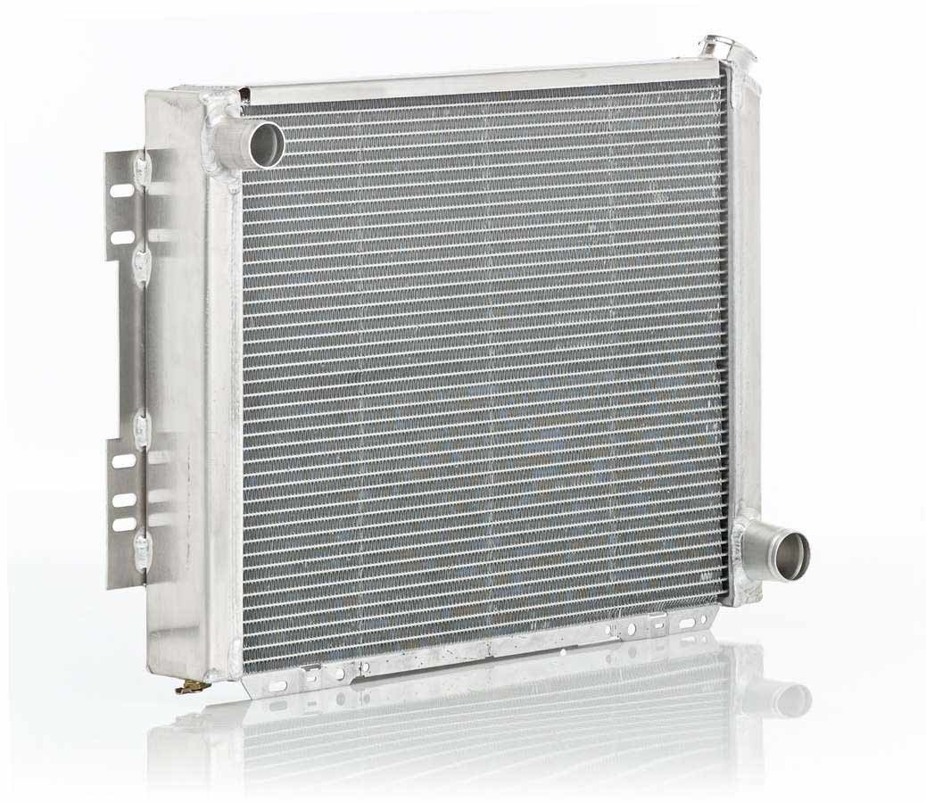 BE-COOL Radiators 10016 Radiator, Aluminator, 29 in W x 20 in H x 3 in D, Driver Side Inlet, Passenger Side Outlet, Aluminum, Natural, GM / Mopar, Each
