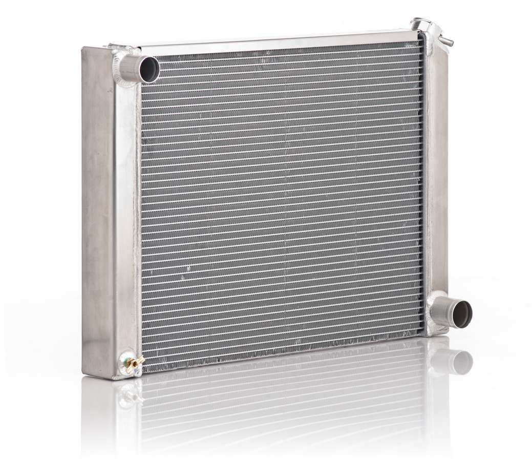 BE-COOL Radiators 10019 Radiator, Aluminator, 27 in W x 19 in H x 3 in D, Driver Side Inlet, Passenger Side Outlet, Aluminum, Natural, GM A-Body 1965-79, Each