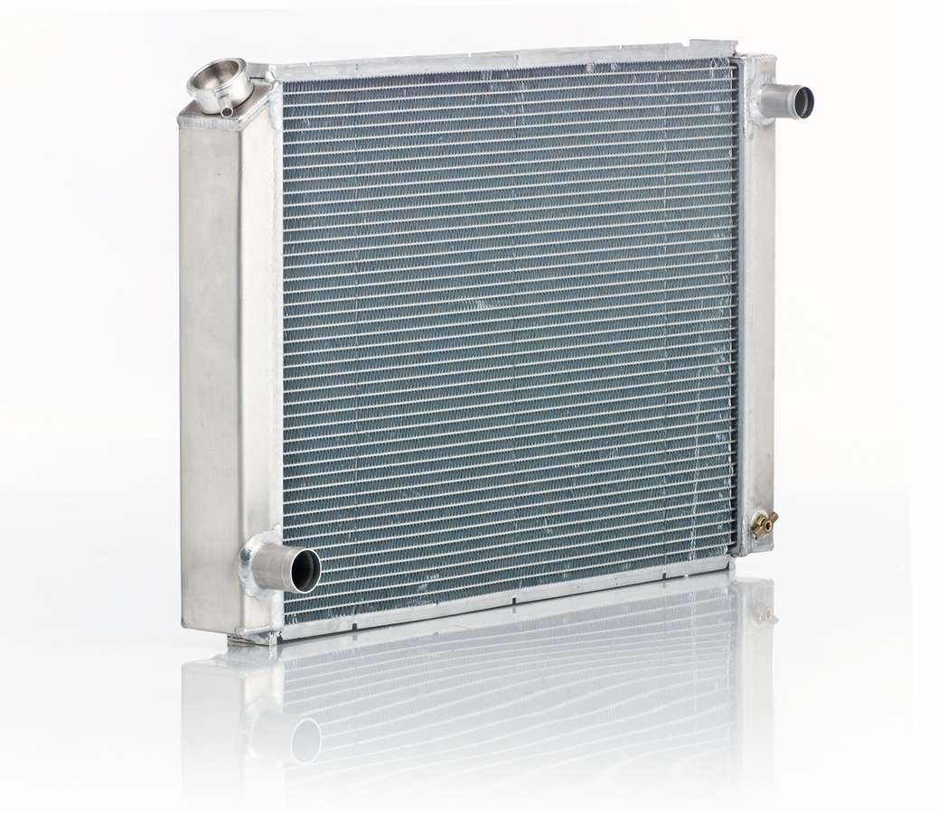 BE-COOL Radiators 10165 Radiator, Aluminator, 29 in W x 19-3/4 in H x 3 in D, Passenger Side Inlet, Driver Side Outlet, Aluminum, Natural, Ford Fox-Body, Each