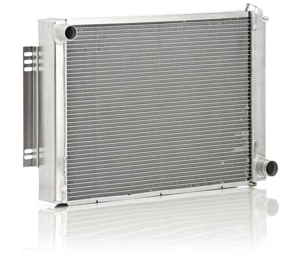 BE-COOL Radiators 10168 Radiator, Aluminator, 30 in W x 19 in H x 3 in D, Driver Side Inlet, Passenger Side Outlet, Aluminum, Natural, GM F-Body 1967-69, Each
