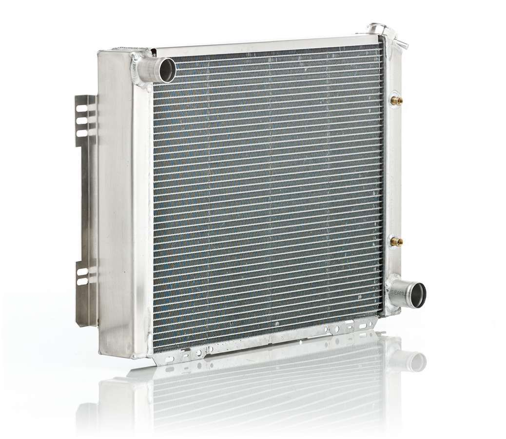 BE-COOL Radiators 12009 Radiator, Aluminator, 26 in W x 19 in H x 3 in D, Driver Side Inlet, Passenger Side Outlet, Aluminum, Natural, Automatic, GM A-Body / F-Body 1964-69, Each