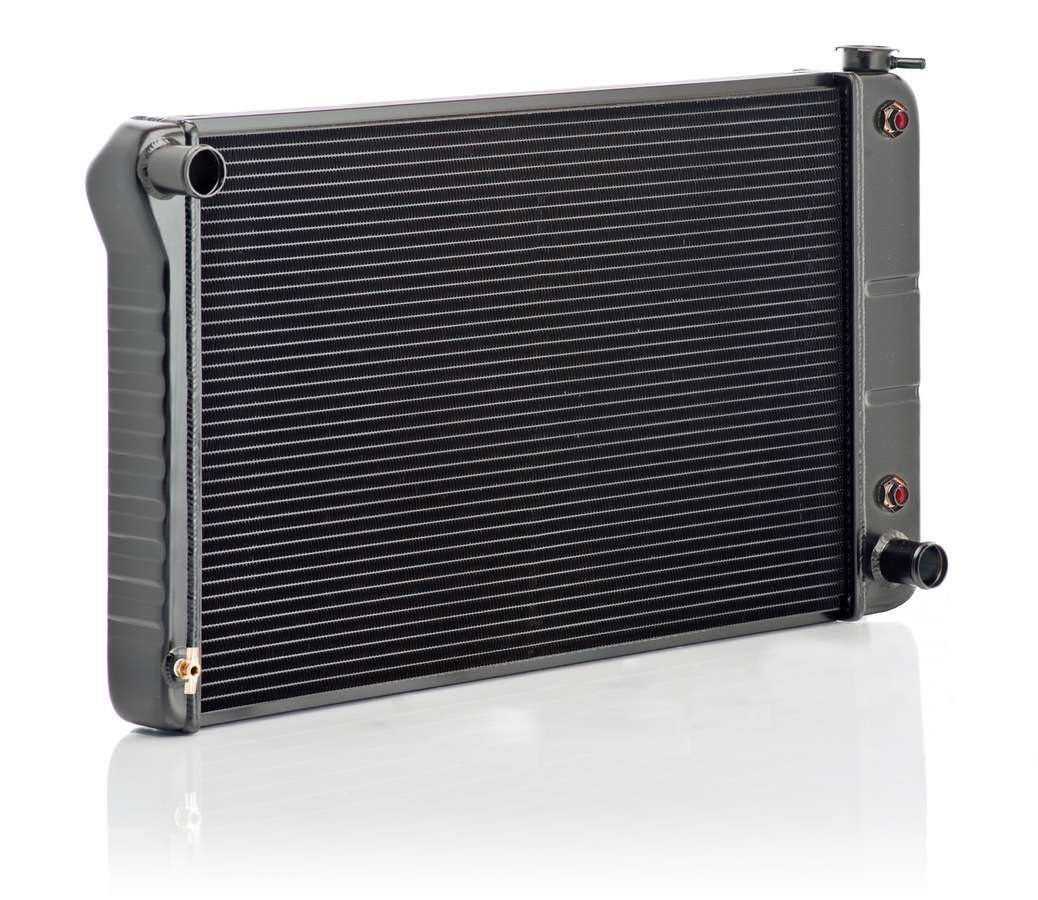 BE-COOL Radiators 17008 Radiator, OE, 33 in W x 19 in H x 3 in D, Driver Side Inlet, Passenger Side Outlet, Aluminum, Black, Automatic, GM A-Body / B-Body 1968-79, Each