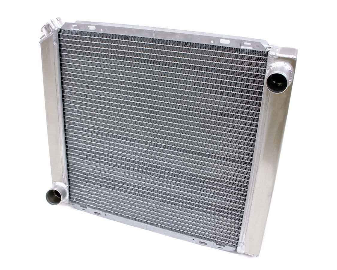 BE-COOL Radiators 35006 Radiator, Universal-Fit, 22 in W x 19 in H x 3 in D, Passenger Side Inlet, Driver Side Outlet, Aluminum, Natural, Each