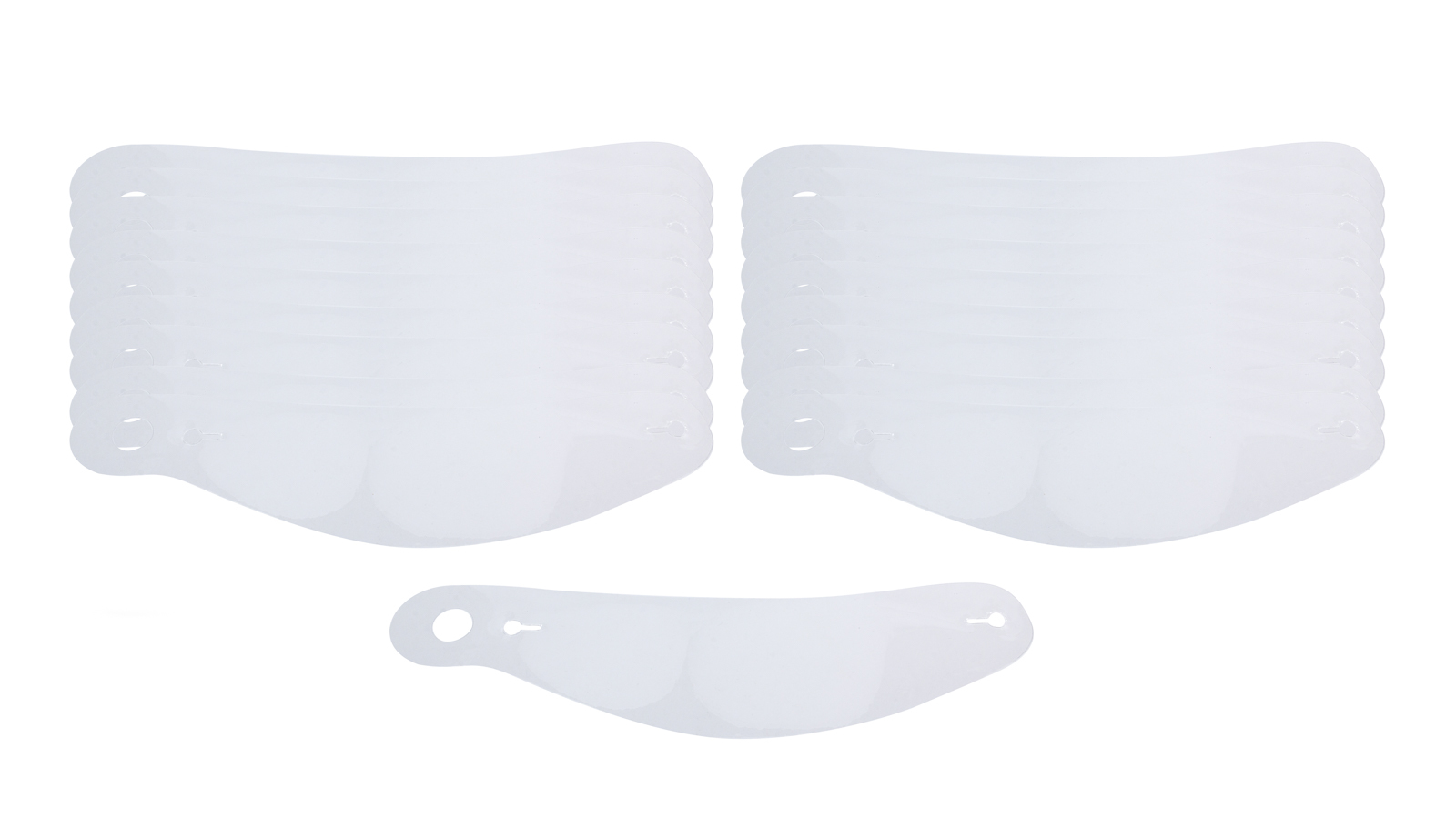 Bell Helmets 2030013 Helmet Shield Tear Off, 2 mm Thick, Curved, Plastic, Clear, Bell Helmets, Set of 20